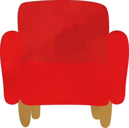 Hand-painted sofa icon (watercolor style) 写真素材 - 147298955
