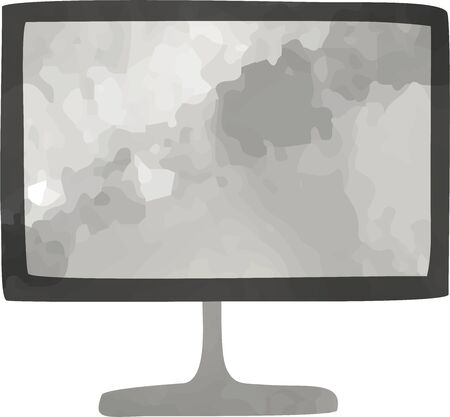 Hand-painted TV icon (watercolor style) 写真素材 - 147298964