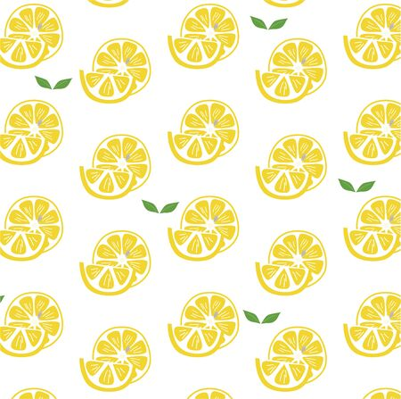 Hand-painted lemon and leaf background