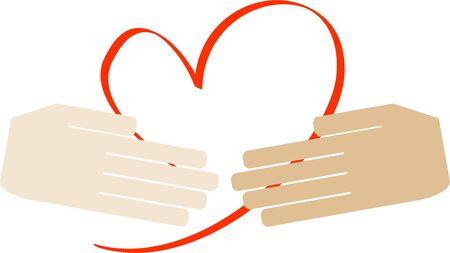 Image of loving handshake (air handshake) Vettoriali
