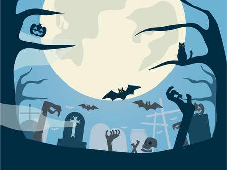 Halloween illustration  イラスト・ベクター素材
