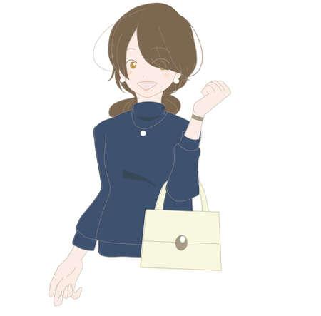 Smiling woman enjoying shopping