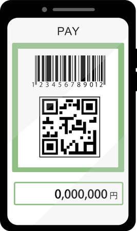 QR code settlement screen image