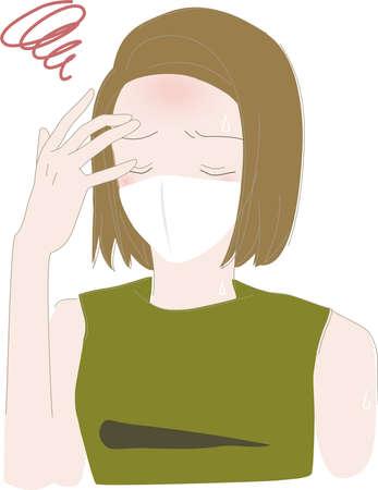 Summer Mask Heat Stroke Woman