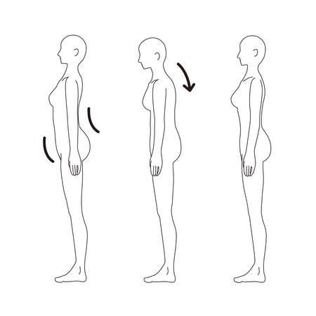Female Medical Posture (Warp Waist, Cat's Back) Beauty Naked Nude Full Body Horizontal