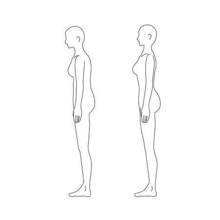 Female Medical Posture (Cat Back) Beauty Naked Nude Full Body Horizontal