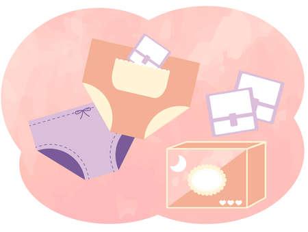 Illustration of napkins (sanitary products).