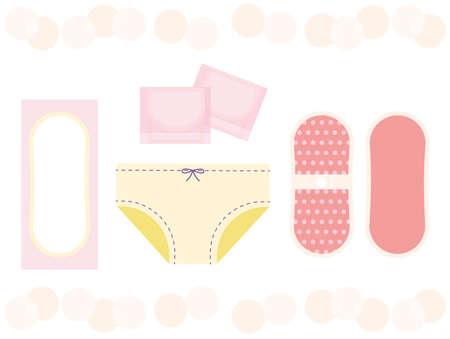 It is an illustration of a oryo sheet and a cloth napkin (cloth ore sheet). Vektorgrafik