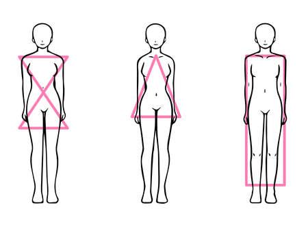 Skeletal Diagnosis 3 Types Body Shape Illustration Nude Ver. (Straight Wave Natural)