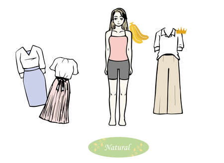 Skeletal diagnosis Clothes that suit skeletal natural  イラスト・ベクター素材