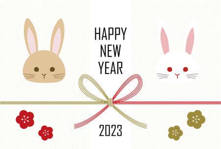 New Year's Card Yoko Ugaki Japanese Style 2023 写真素材