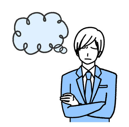 a businessman in a mingly suit  イラスト・ベクター素材