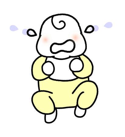 Crying Newborn  イラスト・ベクター素材