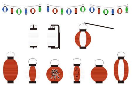 Illustrations depicting various lanterns