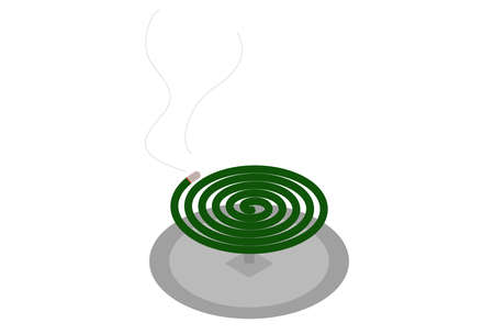Illustration of mosquito repellent incense