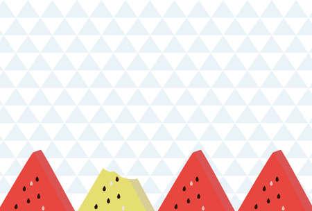 Watermelon summer image background  イラスト・ベクター素材