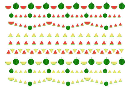 Watermelon Line Decoration