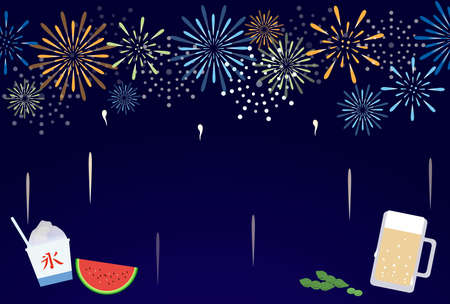 Fireworks and goldfish hot weather visiting on a page template