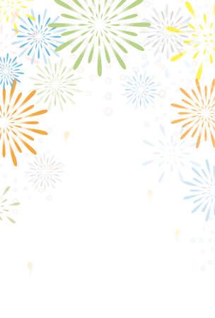Fireworks Frame Illustration  イラスト・ベクター素材