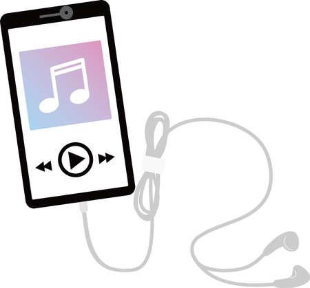 Mobile Music Player Vektoros illusztráció