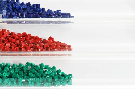Polymer in laboratory Stock Photo