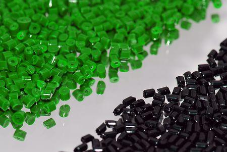 scrutinise: greenblack polastic granulate