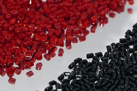 redblack plastic resin photo