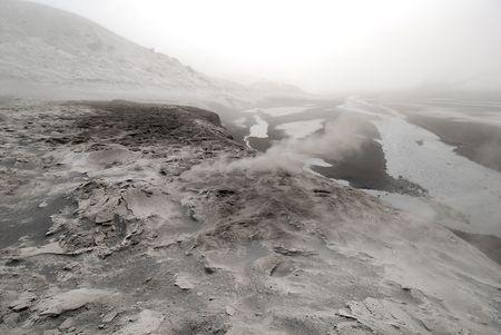 vulcano: In the valley of Eyjafjallajokull in Iceland
