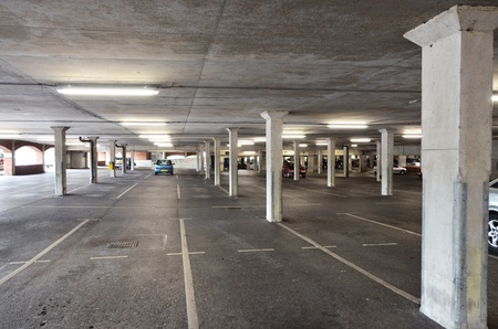 nearly empty parking deck