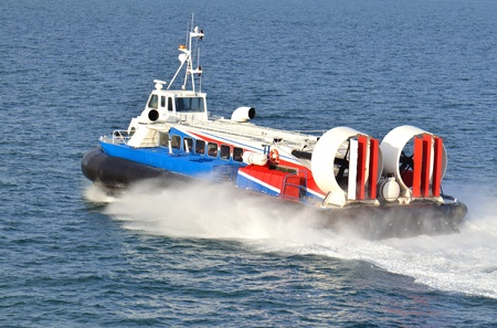 hovercraft: Hovercraft on the way between two coasts