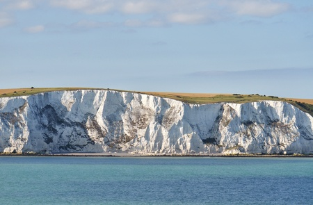 steep cliff: chalk cliffs near Dover; south coast of England
