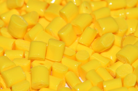 compounding: yellow polymer