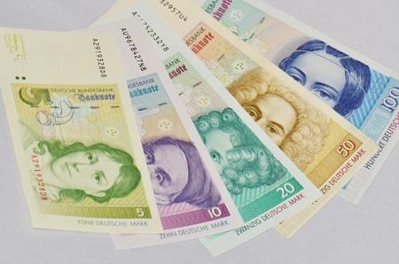 german mark: old German currency German mark