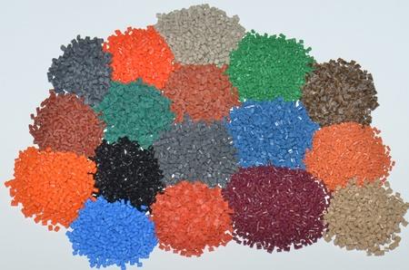 several polymer resins  photo