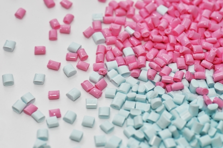 pink and blue polymer resin