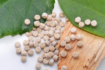 biodegradable material: biopolymer Stock Photo