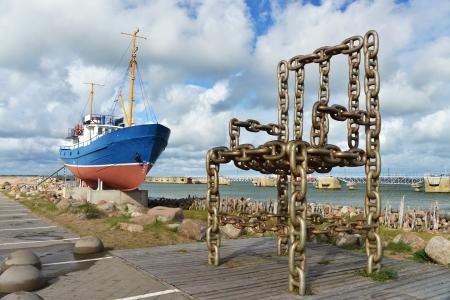 latvia: harbour of Ventspils, Latvia