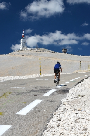 Tour de France at Mont Ventoux, Provence, France photo