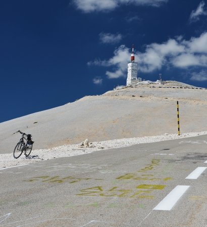 lonely bike at Mont Ventoux, Provence, France  Stage of Tour de France