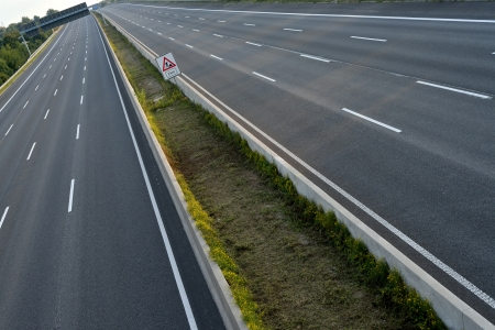 roadworks: completely closed eight-lane-highway due to roadworks