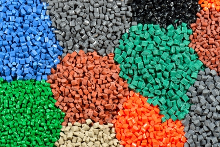 tinted plastic granulate for injection moulding process photo