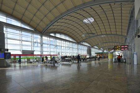 alicante: Departure hall of Alicante Airport, Spain