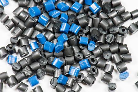黒と青の熱可塑性樹脂 写真素材