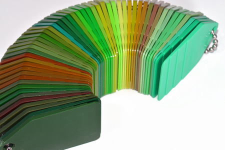 resin: samples of coloured plastic plates