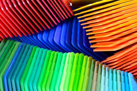 プラスチック射出成形のための染めた色のサンプル