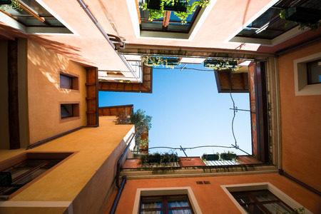 atrium: atrium of italian city houses