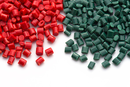 red and green polymer resin 免版税图像