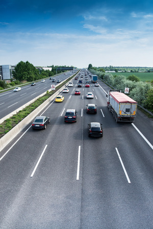 cars and lorries on highway