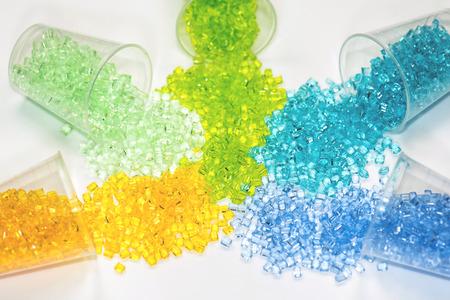 resinas poliméricas en las pruebas de laboratorio en las gafas Foto de archivo