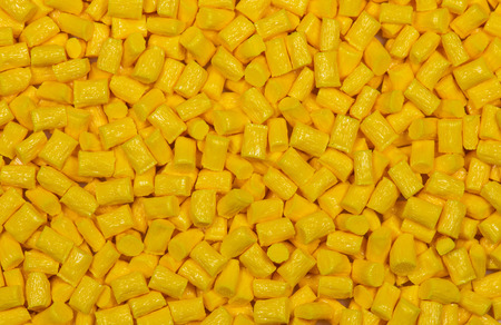 research facilities: yellow dyed and glass filled polymer resin for background